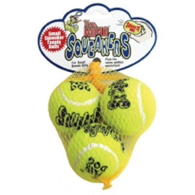 Air Kong Squeaker Tennis Ball Small X 3