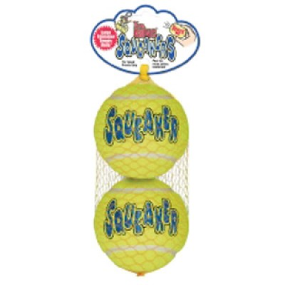 Air Kong Squeaker Tennis Ball Large X2