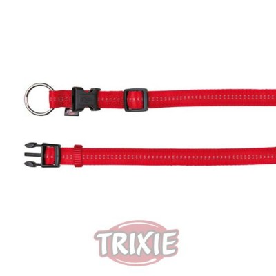 Collar Soft. Eleg., M-L,35-55Cm,20Mm, Rojo/Beige