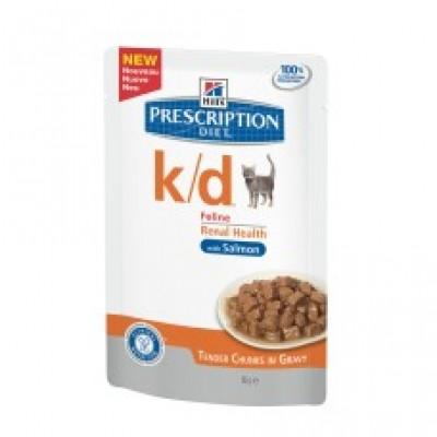 PD Feline k/d con Salmón (bolsita) 12x85 Gr