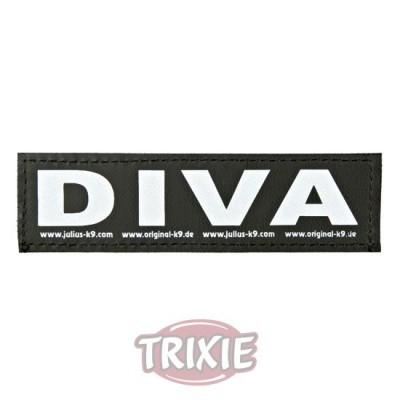 Etiquetas Velcro Julius-K9 Diva, S