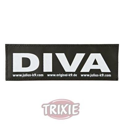 Etiquetas Velcro Julius-K9 Diva, L