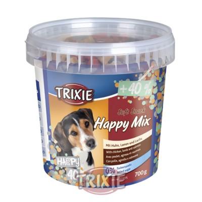 Bote Soft Snack Happy Mix,500 G,Pollo,Salmón,Corde