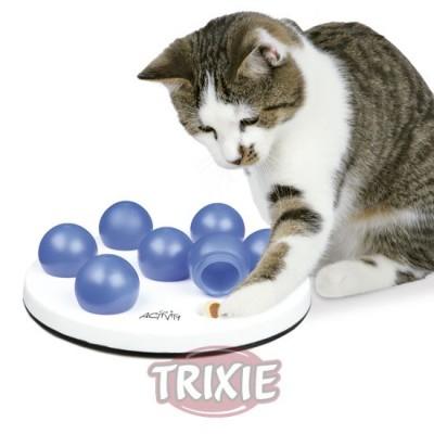 Cat Activity Solitario, Ø 20 Cm, Blanco/Azul