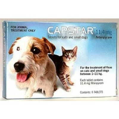 Capstar Perros/Gatos 1-11 Kg 11'4 Mg 6 comprimidos
