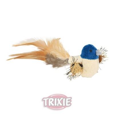 Pájaro Con Plumas Y Catnip, Peluche, 8 Cm