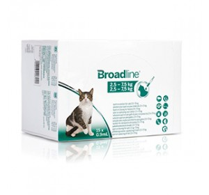 BROADLINE GATOS 2,5-7,5 KG 15pip (Caducidad 31.12.21)