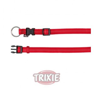 Collar Soft. Eleg., Xs,20-30Cm,10Mm, Rojo/Beige