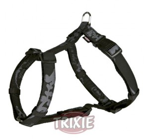 Arnés King Dogs Elegance,Xs-S,30-40 Cm,10Mm, Negro
