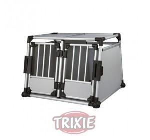 Jaula Doble De Transporte, Aluminio, 95×69×88 Cm