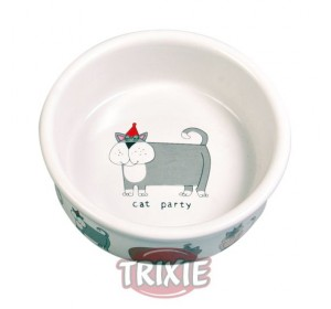 Cat Bowls, Ceramic, 0.2 L, Ø 11 Cm, Blanco - 1 unidad