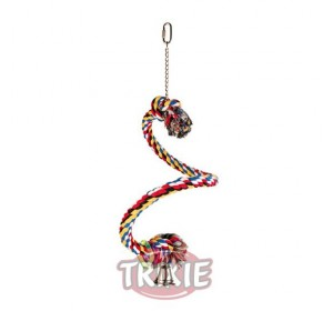 Percha Cuerda Multicolor Espiral, 50 Cm