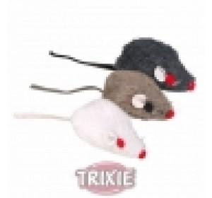 Ratón Peluche Con Cascabel, 5 Cm - 1 unidad