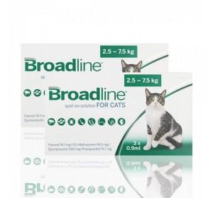 BROADLINE GATOS 2,5- 7,5kgs 3 APLIC (CADUCIDAD 31/12/2021)