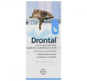 DRONTAL GATOS ELIPSOIDE 24 comp.