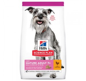 HILL'S SCIENCE PLAN Light Small & Mini Alimento para Perros Mayores 7+ con Pollo 2,5kg