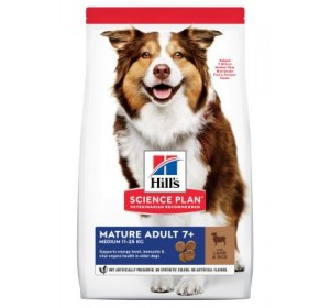 Hill's Mature Adult 7+ Medium Science Plan con cordero y arroz 2,5kg